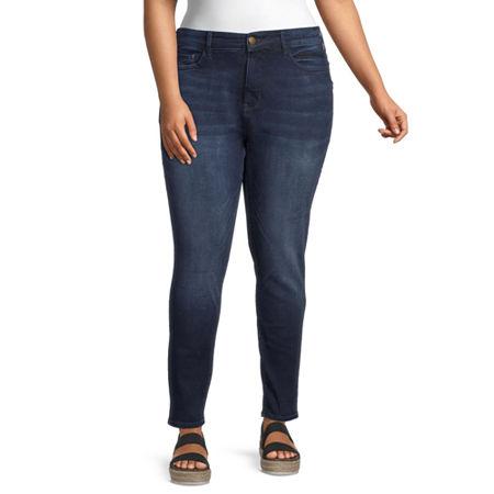a.n.a Womens High Rise Skinny Jeggings, 20w , Blue