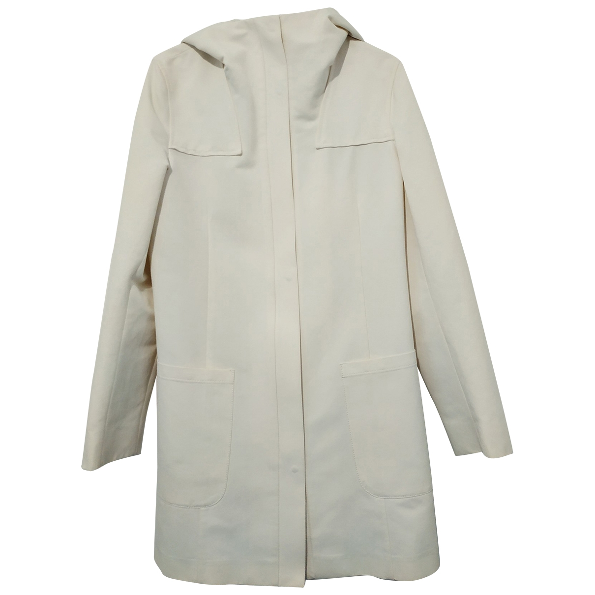 Max Mara s \N Trench in  Weiss Baumwolle