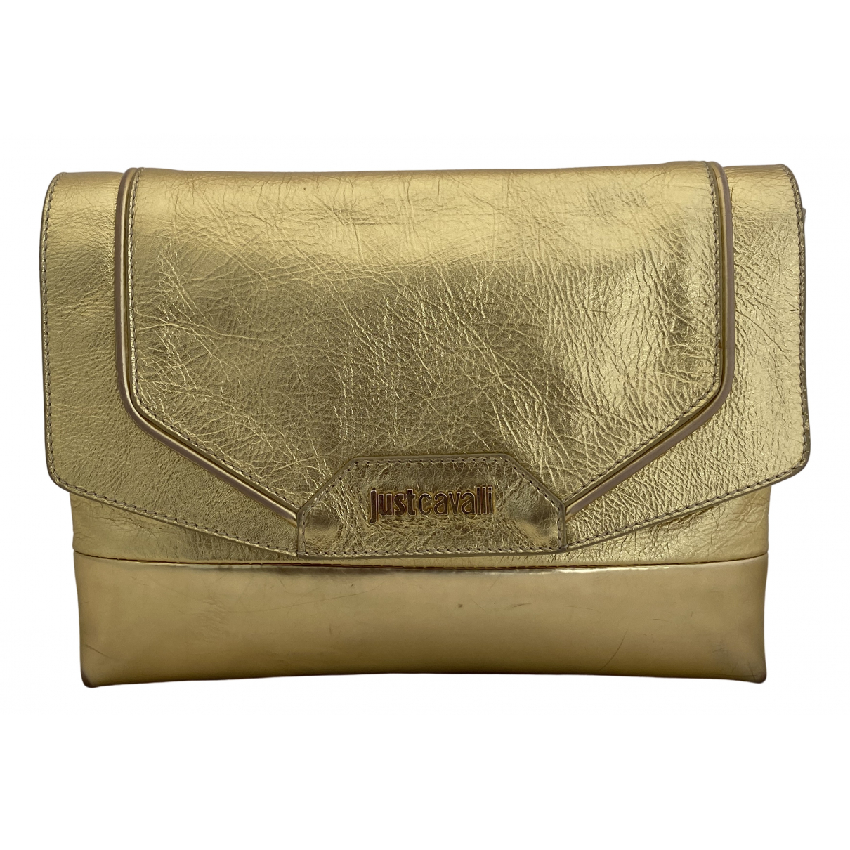 Just Cavalli N Gold Leather Clutch bag for Women N