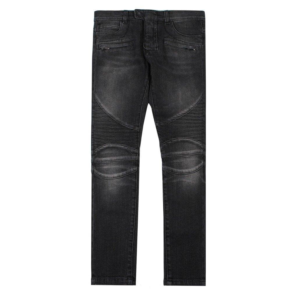 Balmain Paris Kids Slim-fit Biker Jeans Colour: GREY, Size: 16 YEARS