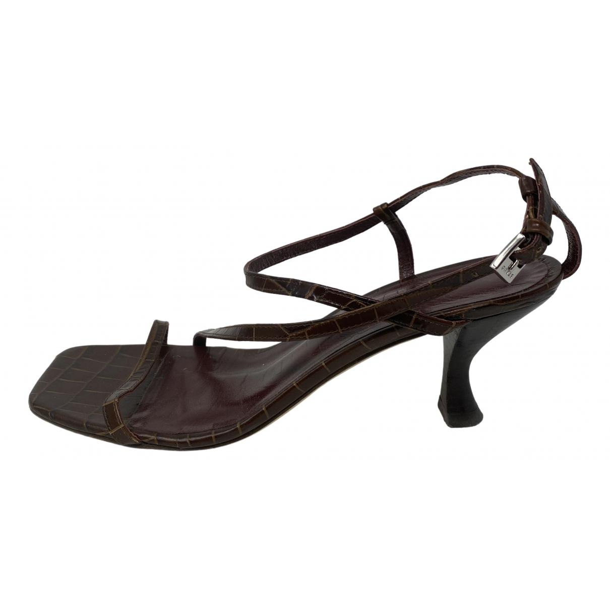 Staud - Sandales   pour femme en cuir - marron