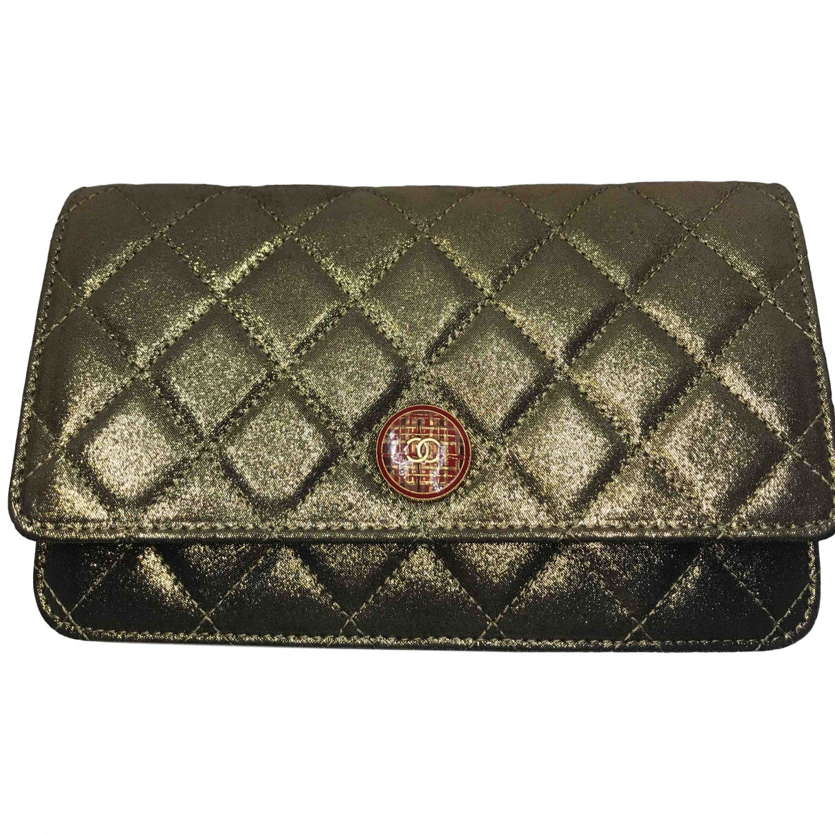 Chanel Wallet on Chain Gold Cloth Clutch bag for Women \N