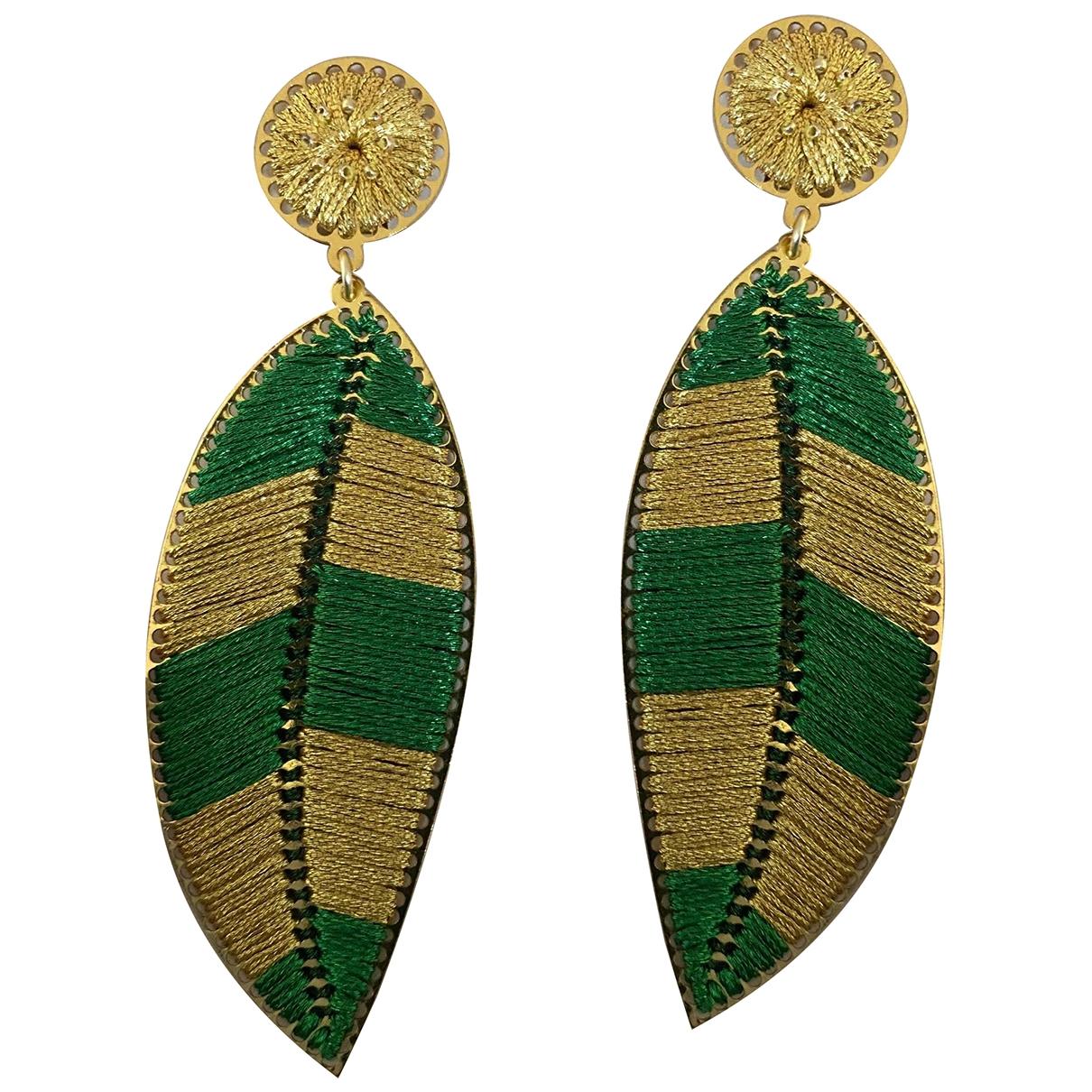 Non Signé / Unsigned Motifs Floraux Multicolour Earrings for Women \N