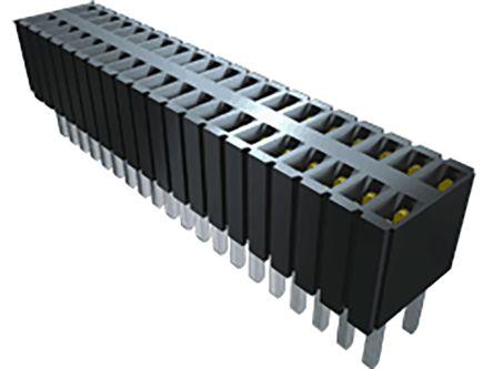 Samtec , SLM 1.27 (Typ.)mm Pitch 5 Way 1 Row Vertical PCB Socket, Through Hole, Solder Termination (86)