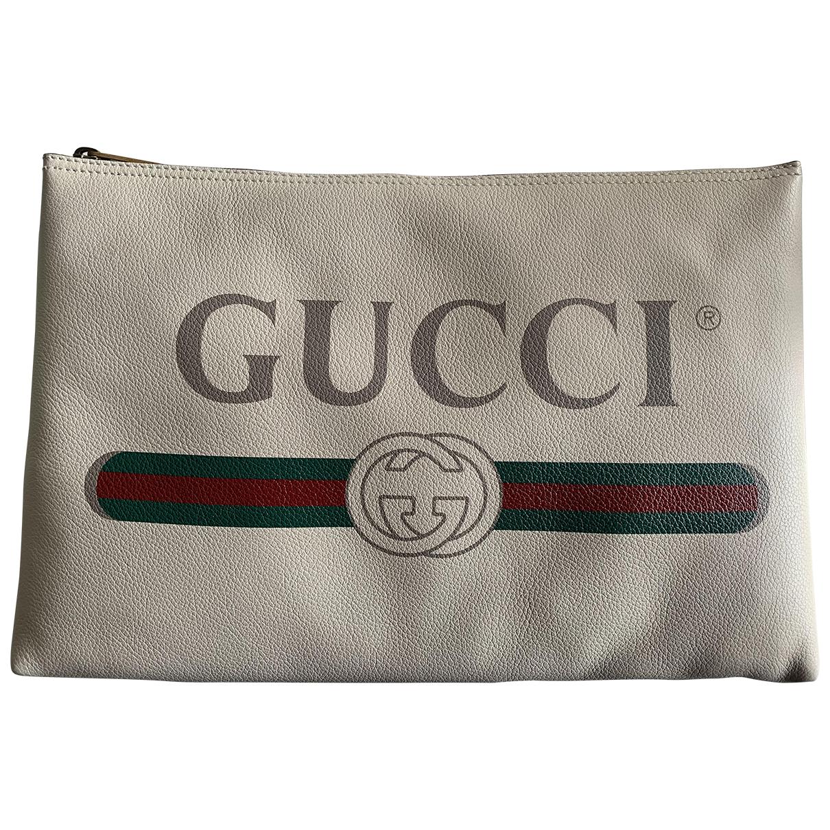 Gucci \N Kleinlederwaren in  Weiss Leder