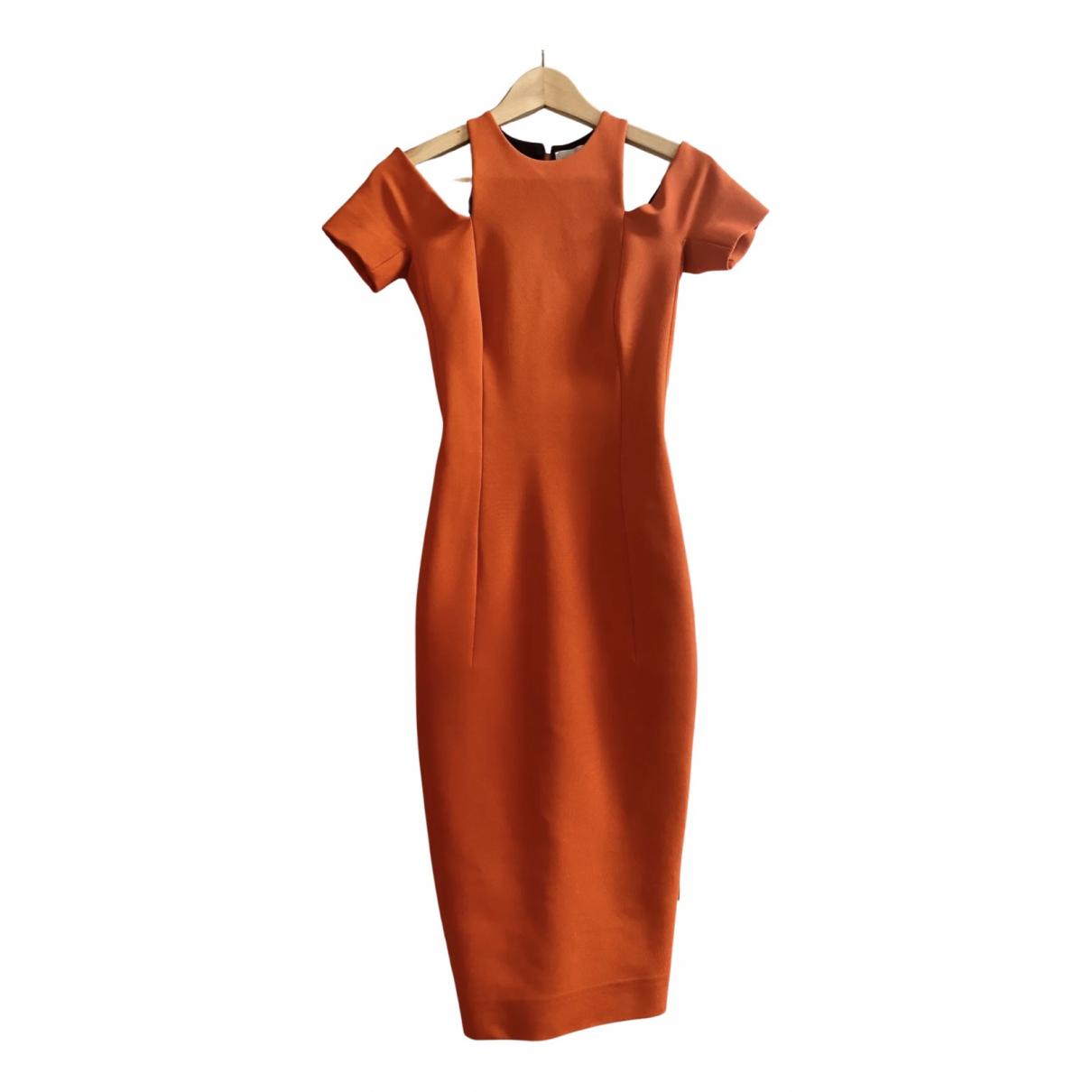 Victoria Beckham N Orange Cotton - elasthane dress for Women 6 UK
