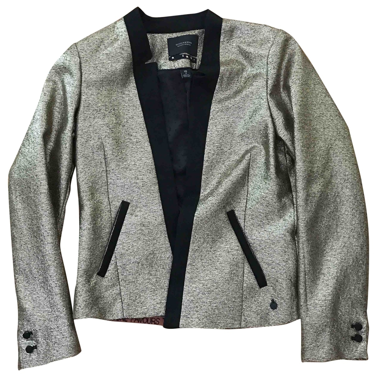 Maison Scotch \N Jacke in  Silber Polyester