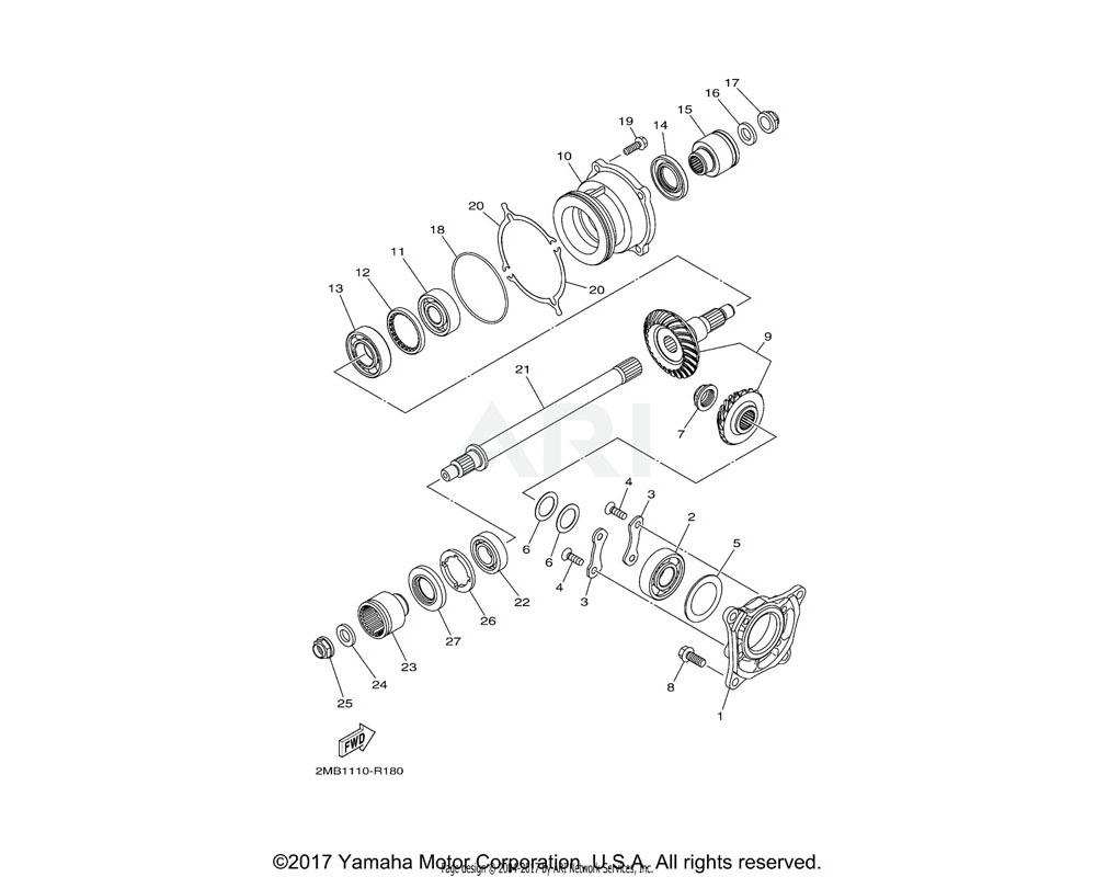 Yamaha OEM 2MB-E5383-00-00 PLATE, BEARING COVER