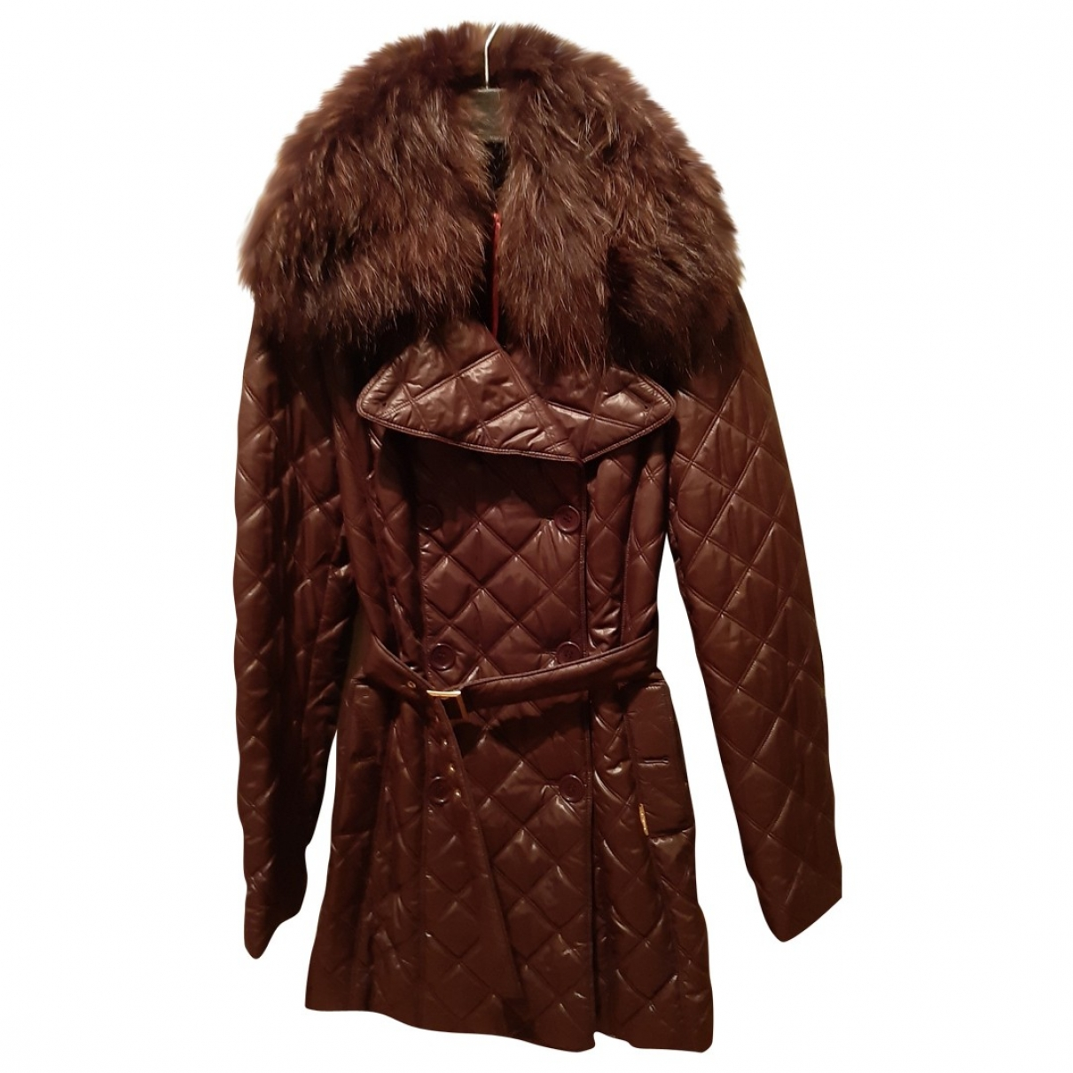 Non Signé / Unsigned \N Brown coat for Women 40 IT