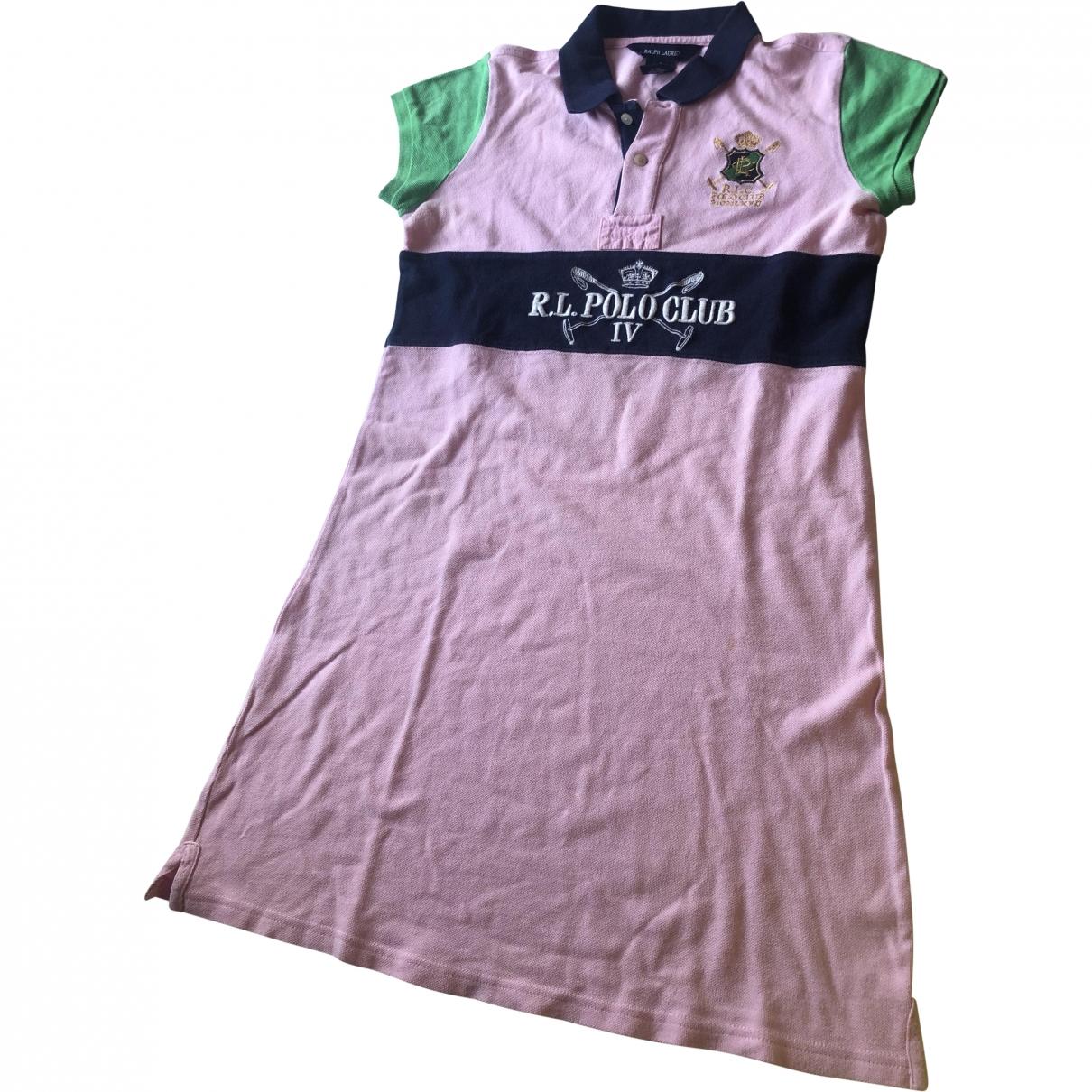 Ralph Lauren \N Pink Cotton dress for Kids 18 years - L FR