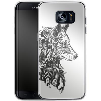 Samsung Galaxy S7 Edge Silikon Handyhuelle - Wolf Profile von BIOWORKZ