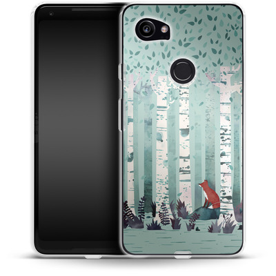 Google Pixel 2 XL Silikon Handyhuelle - Birches von Little Clyde
