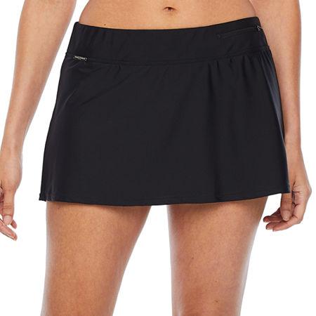Zeroxposur Swim Skirt Swimsuit Bottom, Large , Black