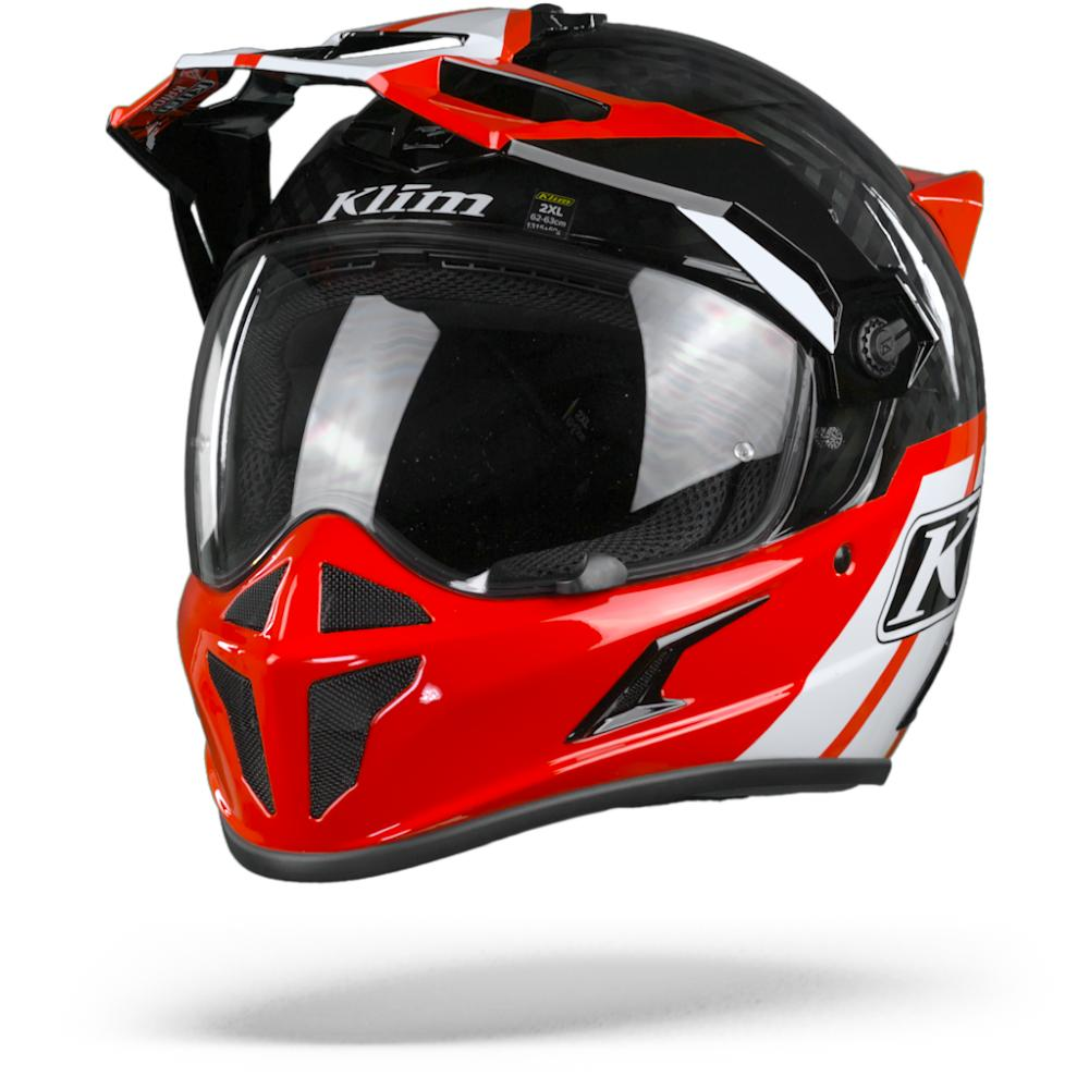 Klim Krios Twotrack Casque Adventure Rouge Rock S