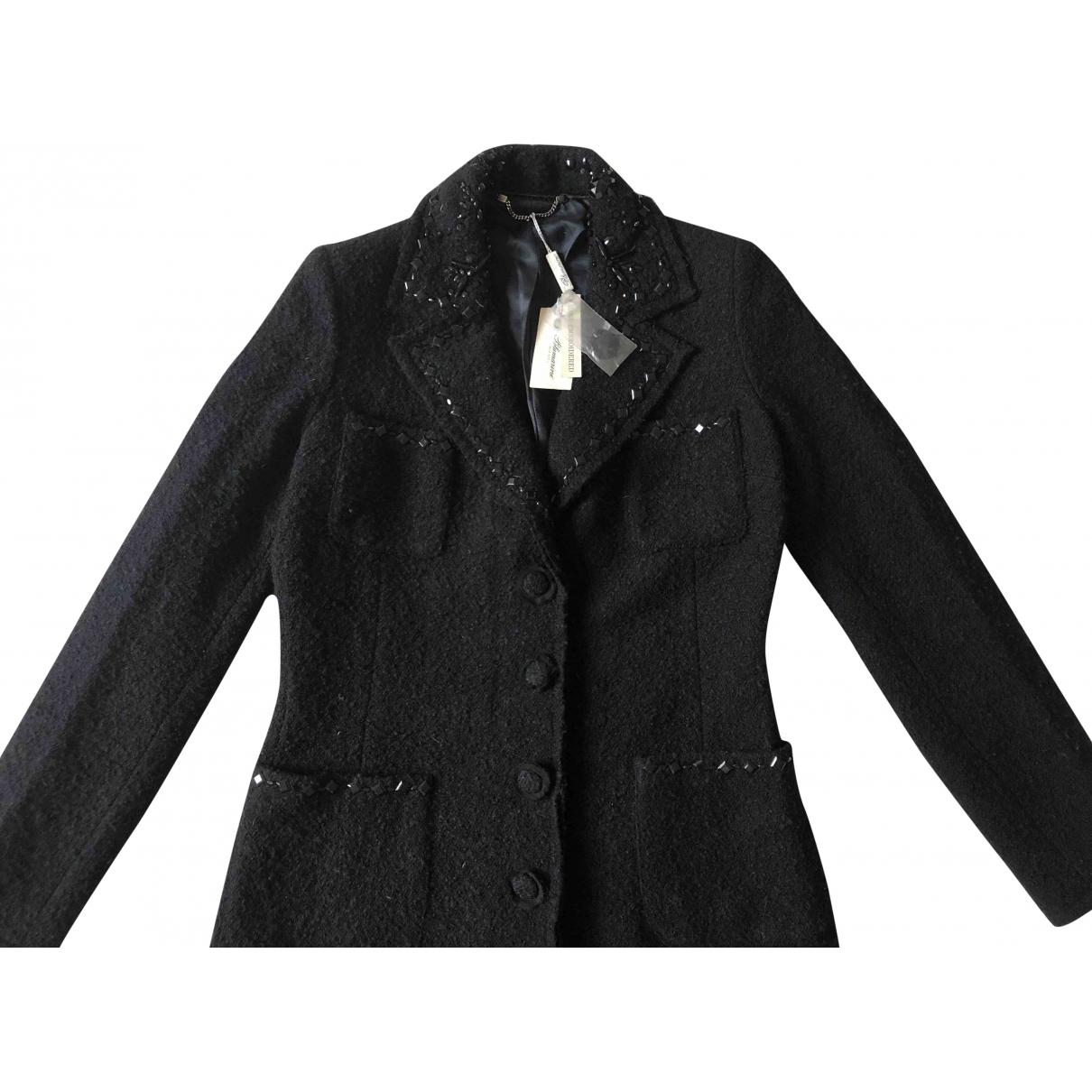 Blumarine - Manteau   pour femme en laine - noir