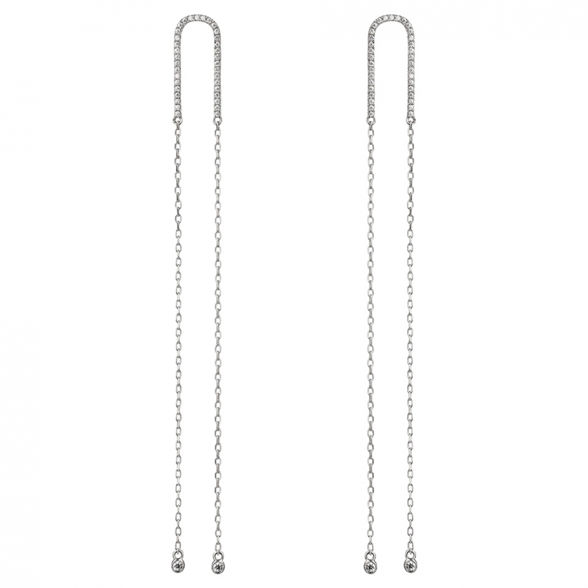Non Signé / Unsigned \N Silver White gold Earrings for Women \N