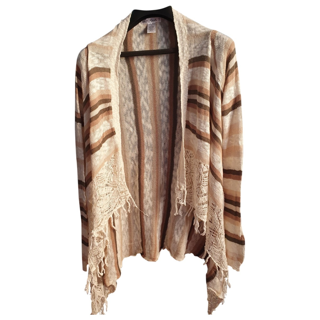 Non Signe / Unsigned \N Pullover in  Beige Baumwolle