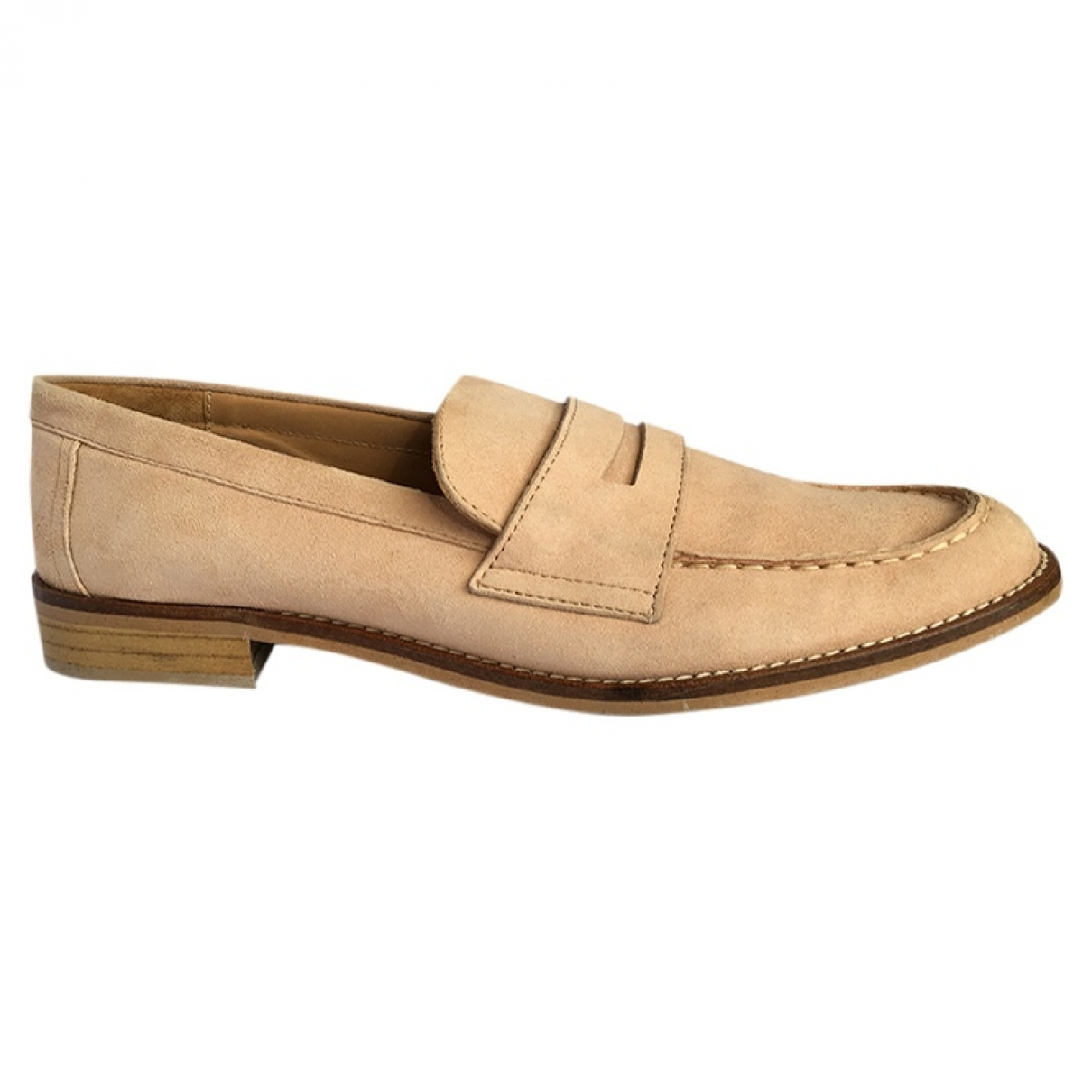 Non Signé / Unsigned \N Leather Flats for Women 41 EU