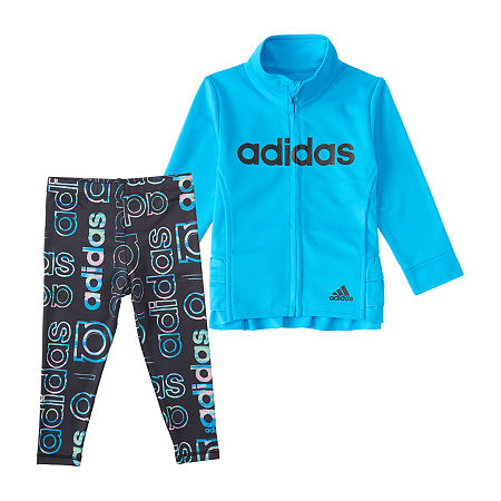 adidas Little Girls 2-pc. Legging Set, 4 , Blue