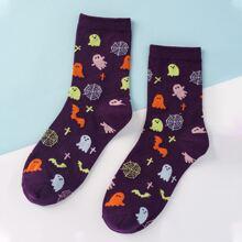 Socken mit Geist Muster