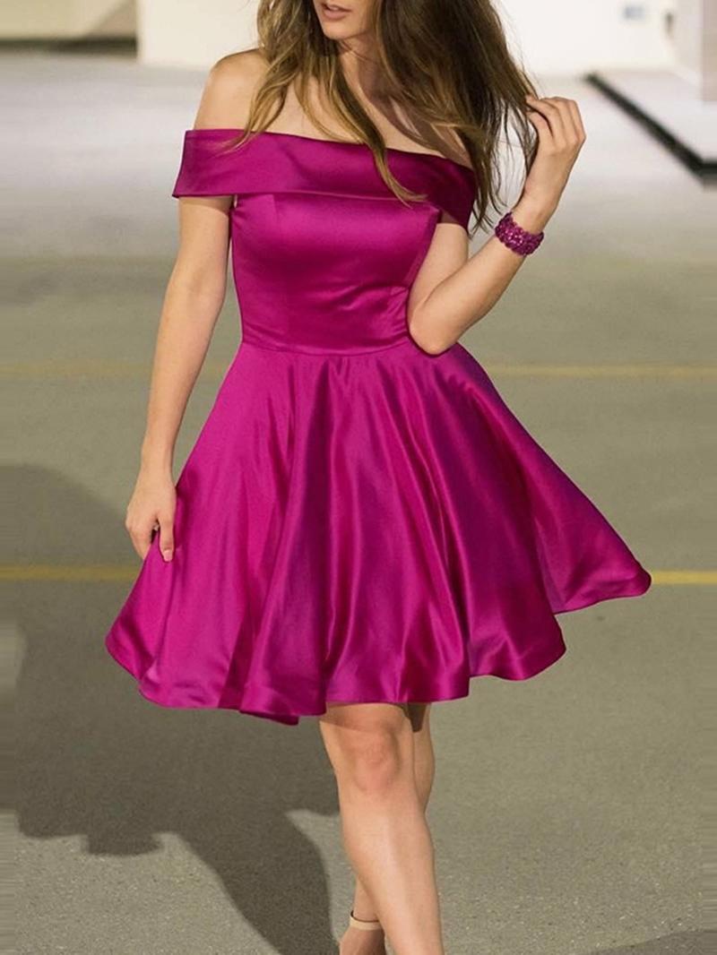 Ericdress Off-The-Shoulder A-Line Sleeveless Knee-Length Homecoming Dress