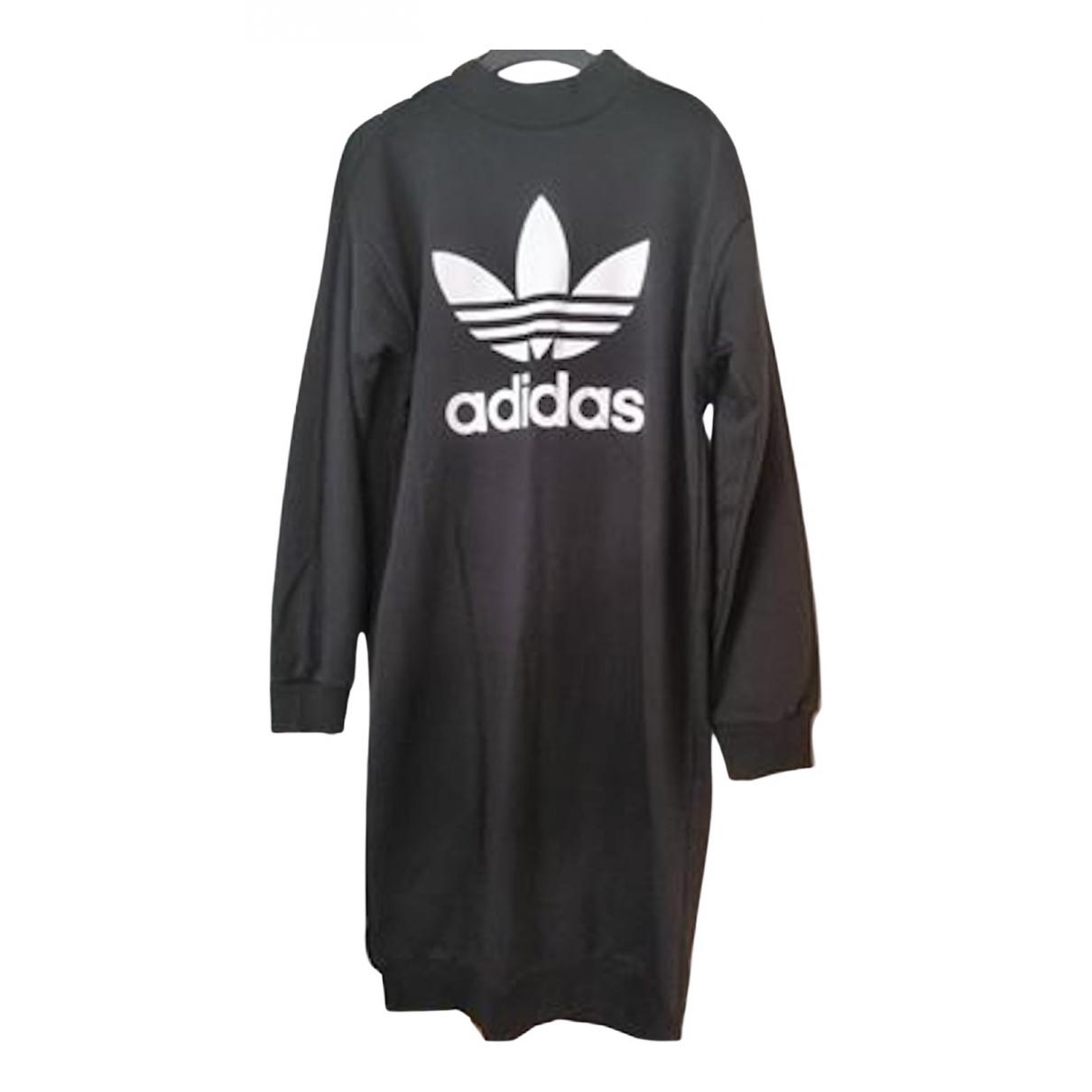 Adidas \N Kleid in  Schwarz Baumwolle
