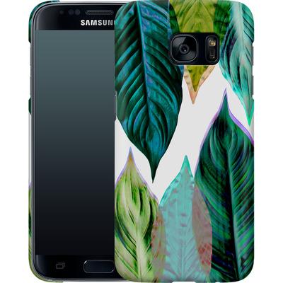 Samsung Galaxy S7 Smartphone Huelle - Green Leaves von Mareike Bohmer