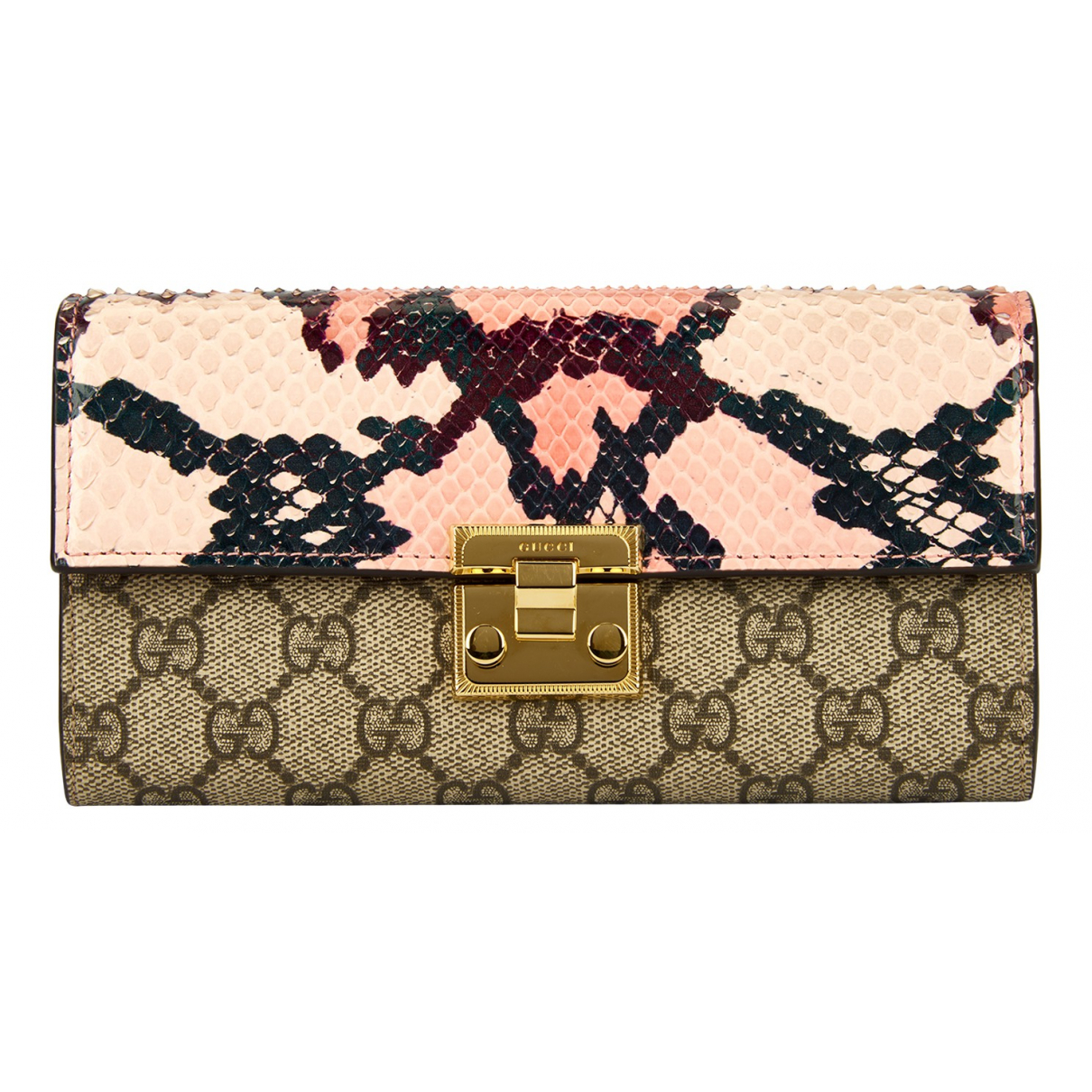 Gucci Padlock Multicolour Python Clutch bag for Women N
