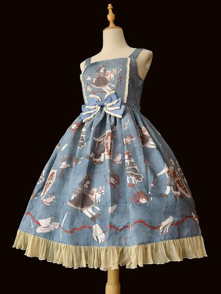 Milanoo Vestido gotico de Lolita JSK Faldas sin mangas de lolita sin mangas para bebes