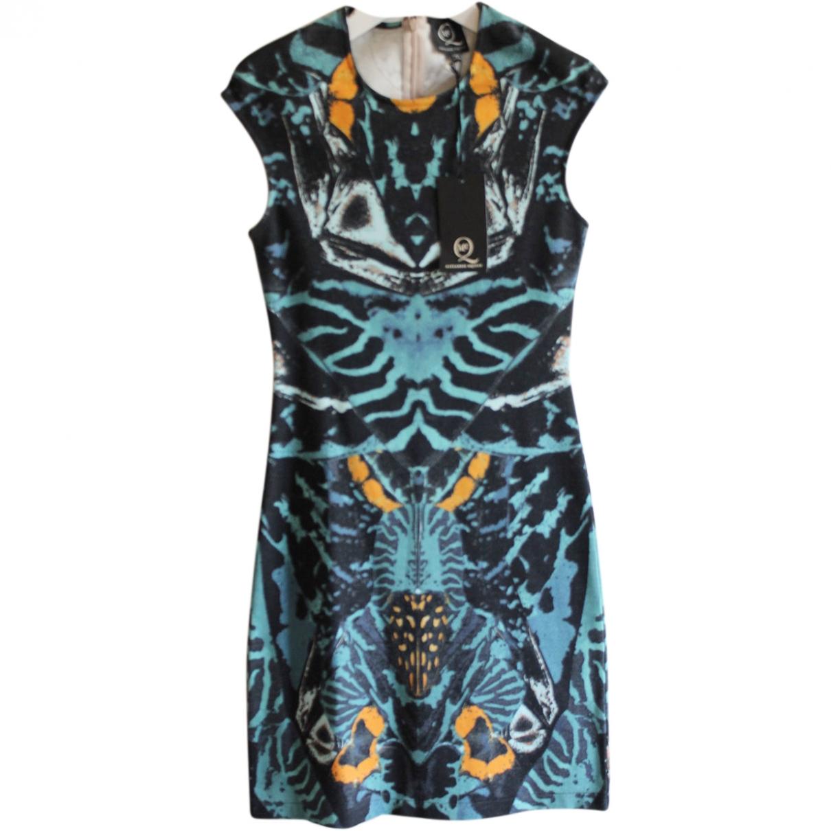 Mcq \N Kleid in  Blau Baumwolle - Elasthan