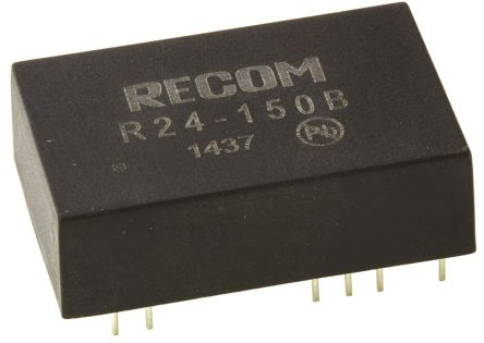 Recom 5W Isolated DC-DC Converter Through Hole, Voltage in 21 → 27 V dc, Voltage out 95 → 210V dc