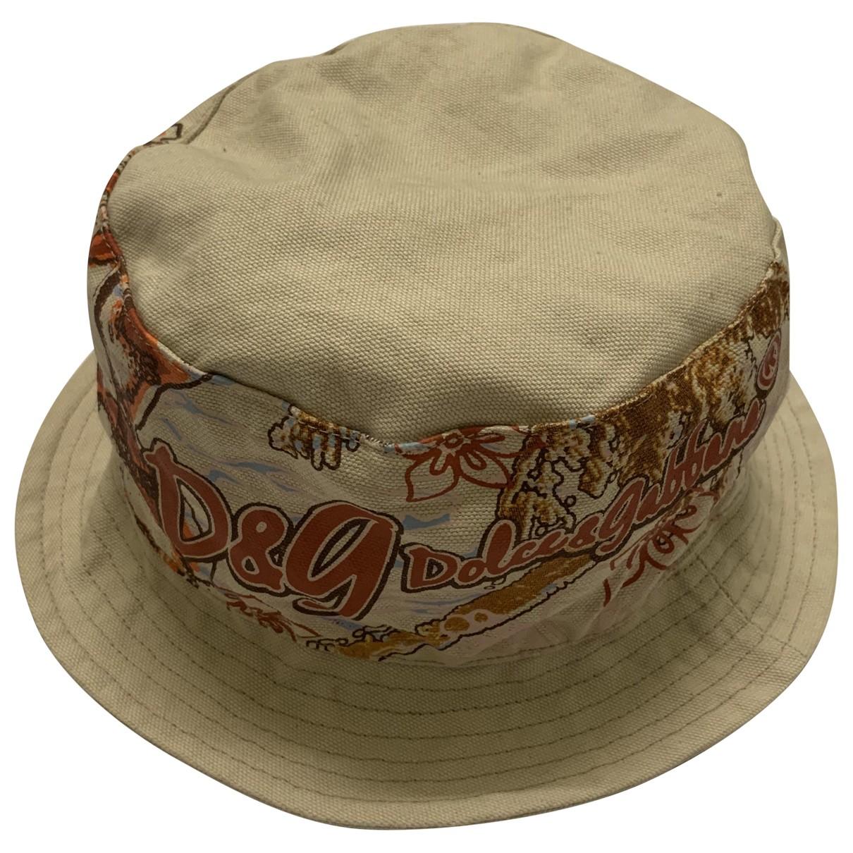 Dolce & Gabbana - Chapeau & Bonnets   pour homme en toile - marron