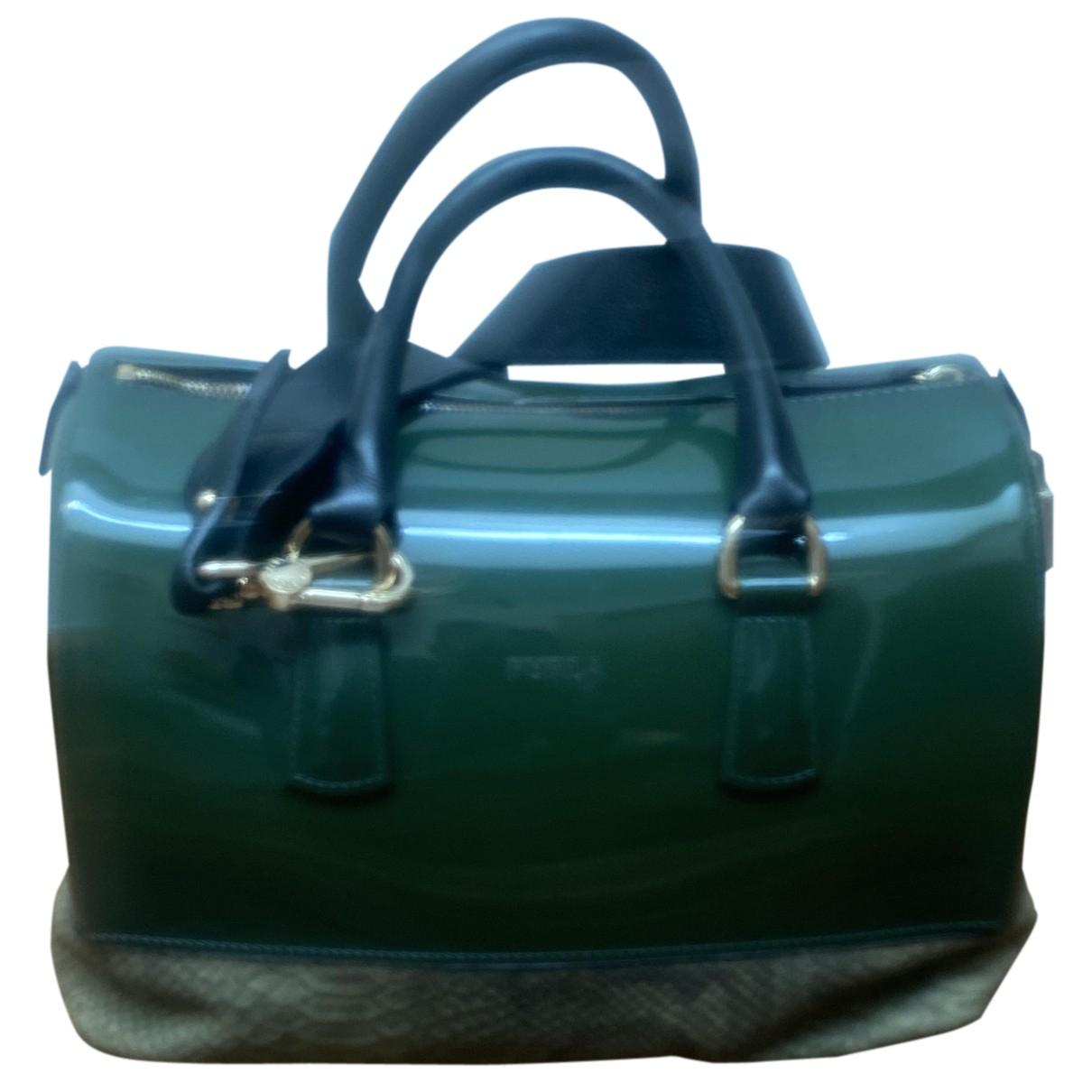 Furla Candy Bag Green Patent leather handbag for Women N
