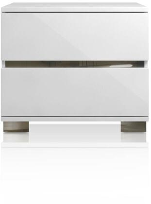 2104.WHG Icon Collection 2104.Whg Nightstand In White High
