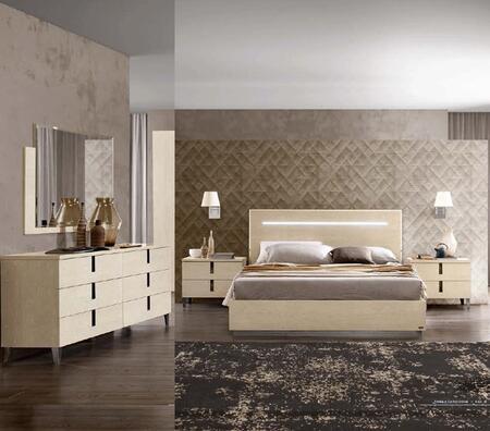 AMBRABEDQS2NSDRMR 5-Piece Bedroom Set with Queen Bed  2 Nightstands  Dresser and Mirror in