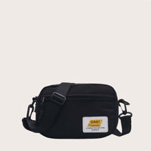 Patch Zip Crossbody Bag