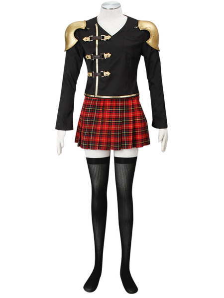 Milanoo Final Fantasy Type-0 Suzaku Peristylium Class Zero NO.5 Cinque Cosplay Costume Halloween