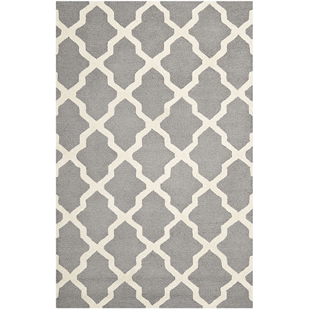 Safavieh Gale Wool Rectangular Rug, One Size , Silver