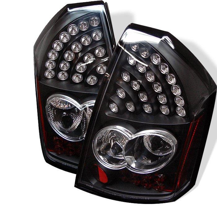Spyder LED Black Tail Lights Chrysler 300 05-07