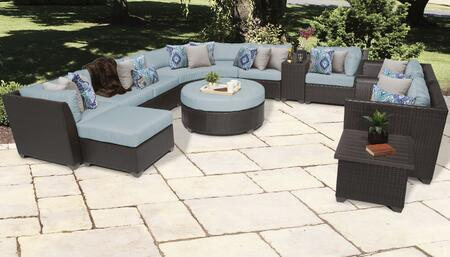 Barbados BARBADOS-12a-SPA 12-Piece Wicker Patio Set 12a with 2 Corner Chairs  3 Armless Chairs  Curved Armless Sofa  Ottoman  End Table  Cup Table