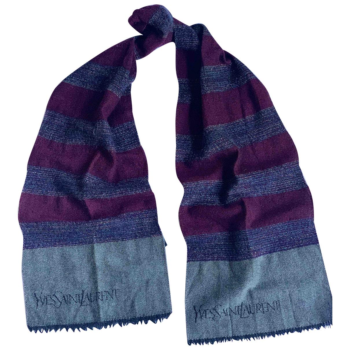 Yves Saint Laurent - Cheches.Echarpes   pour homme en laine - bordeaux