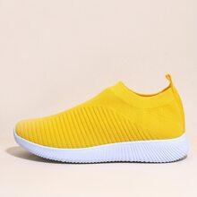 Minimalistische Strick Slip On Sneakers