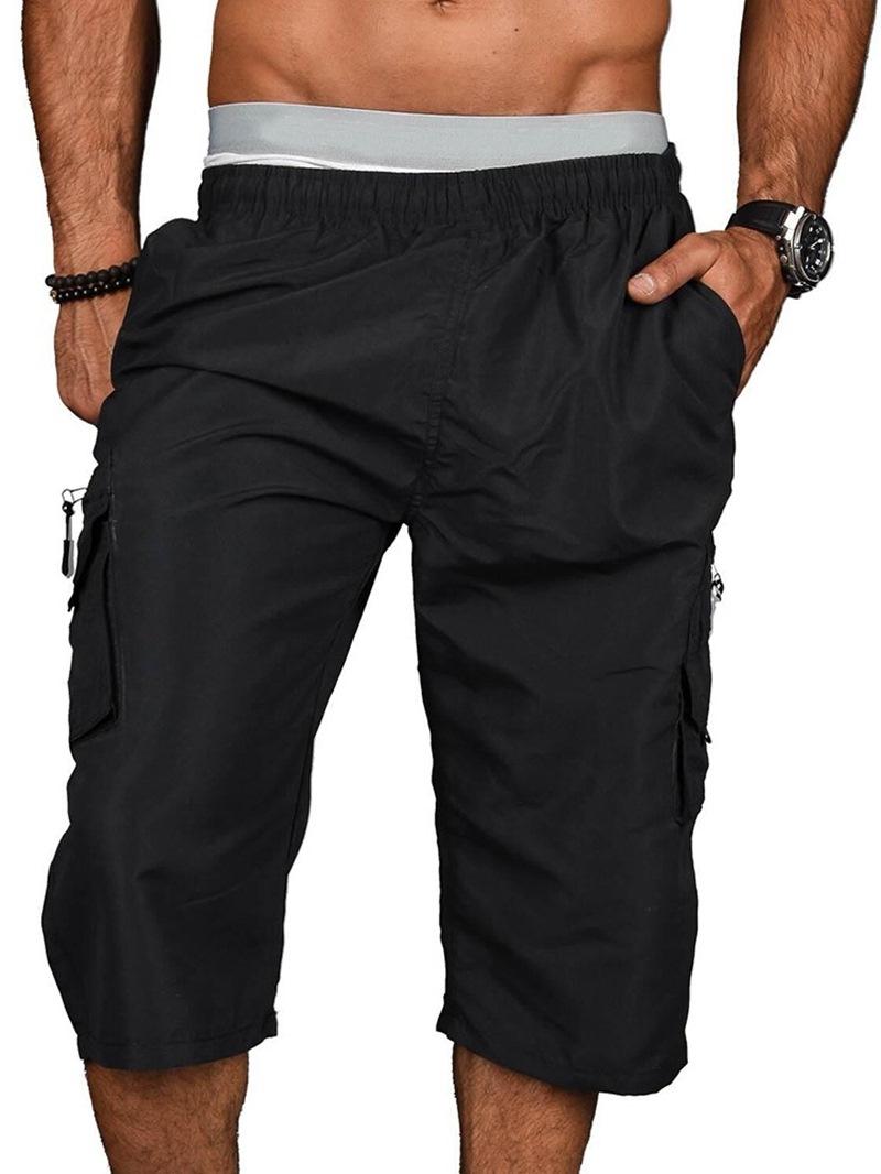Ericdress Plain Straight Sports Elastics Casual Pants