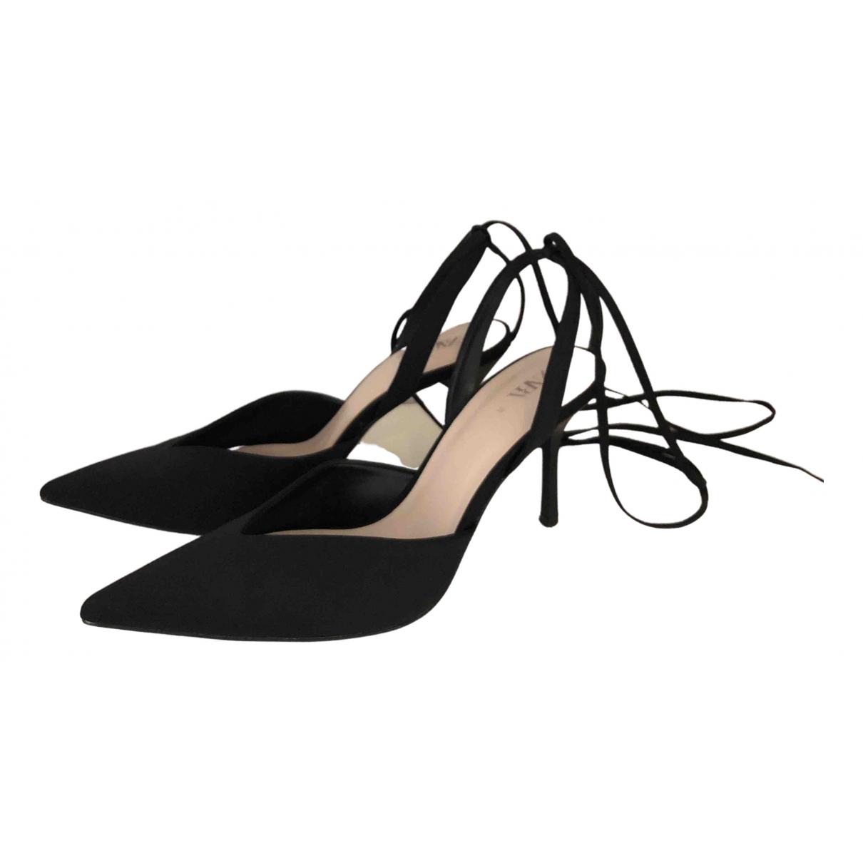 Zara - Sandales   pour femme en toile - noir