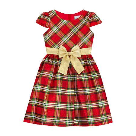 Sweet Charmers Little & Big Girls 2-pc. Jacket Dress, 6x , Red