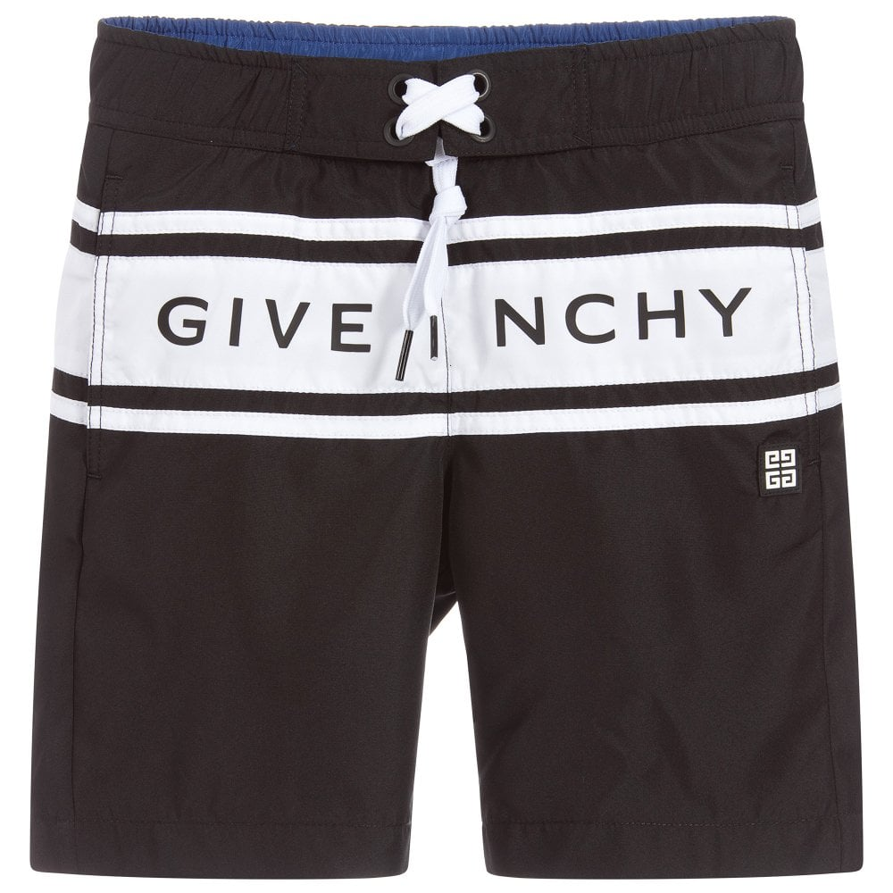 Givenchy Kids Logo Print Swimshorts Colour: BLACK, Size: 8 YEARS