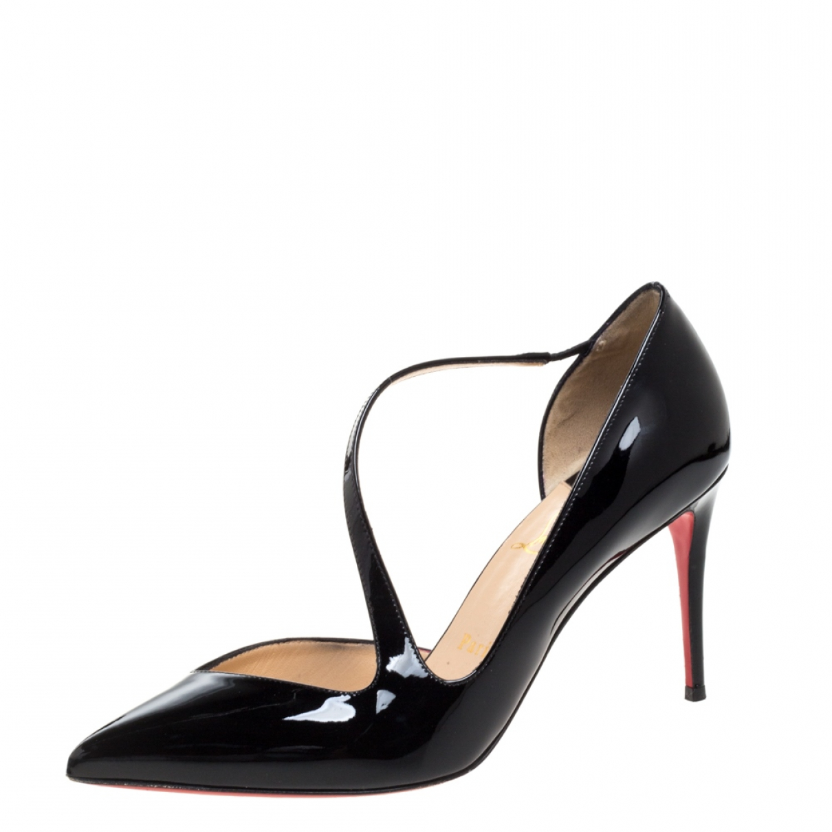 Christian Louboutin N Black Patent leather Heels for Women 7.5 US