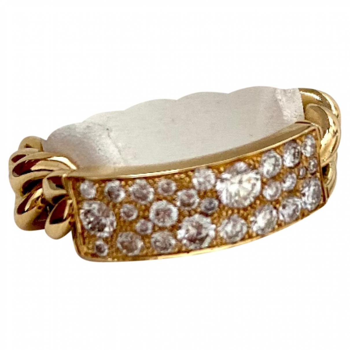 Dior - Bague Gourmette pour femme en or jaune