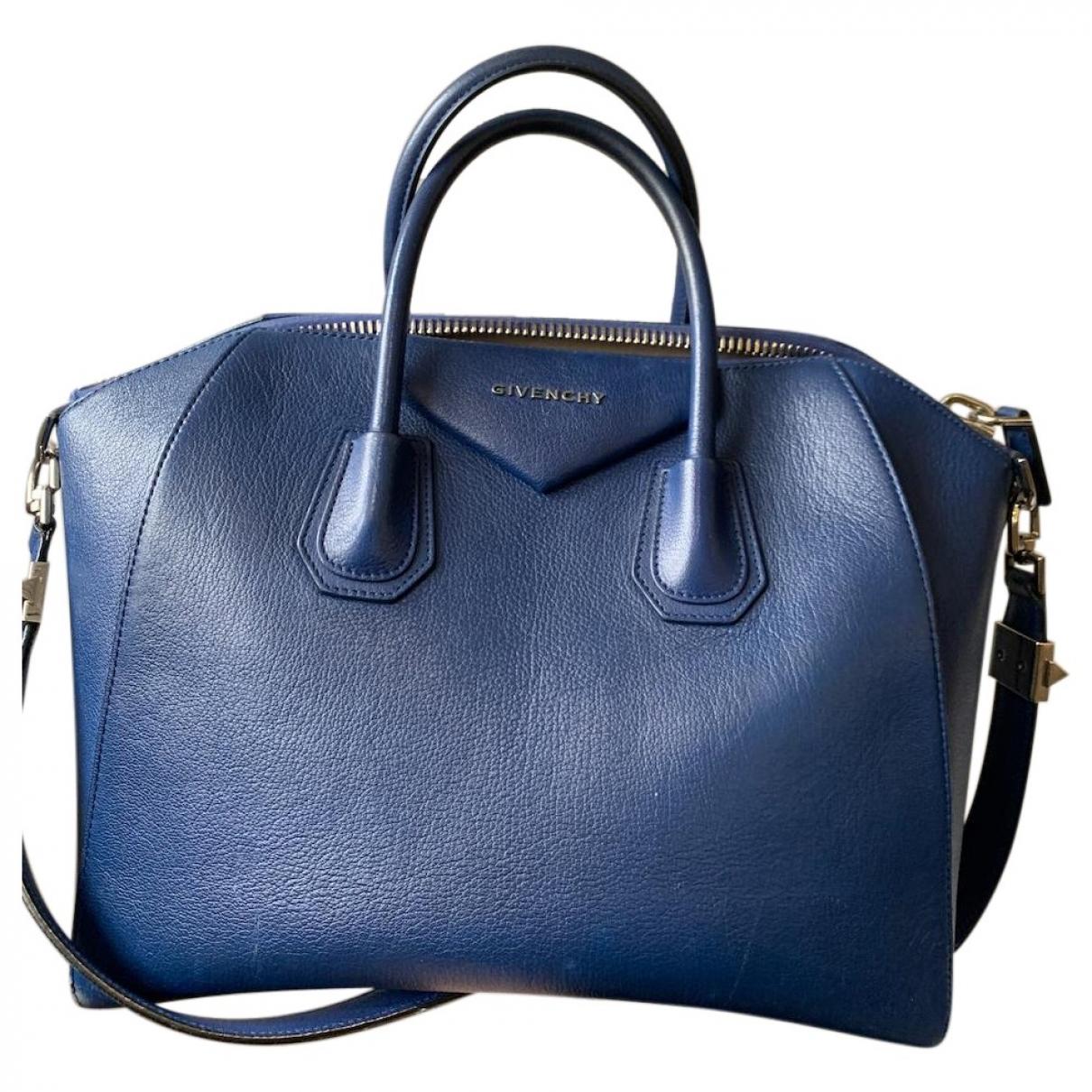 Givenchy Antigona Blue Leather handbag for Women \N