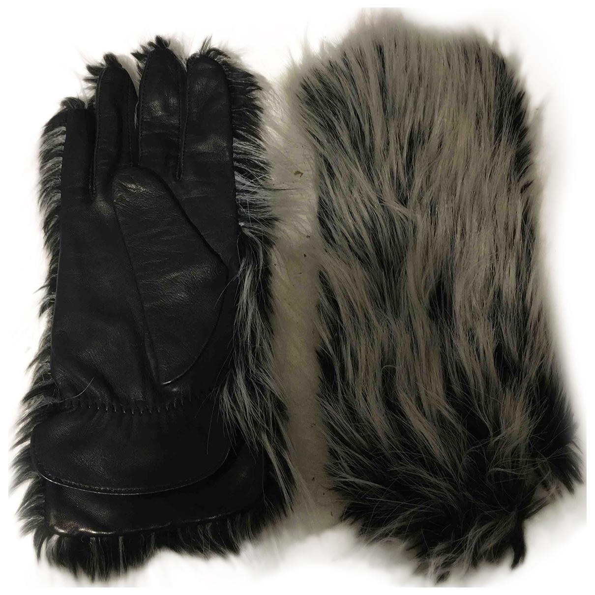 Issey Miyake N Black Faux fur Gloves for Women S International